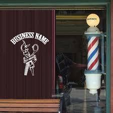 Decal Cut And Shave Barber Shop Custom Name Wall Or Window Decal 28 X 32 White Walmart Com Walmart Com