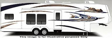 Motorhome Large Vinyl Decals Graphics Kit K 0004bur Rv Trailer Camper