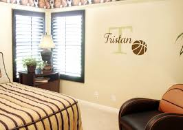 Basketball Name Wall Decal Advanced Options Decorate With Wall Decals Letters Quotes Words Wisedecor Wall Lettering
