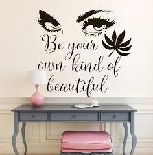 Big Eyes Wall Decals Beauty Salon Eyelashes Decal Vinyl Etsy