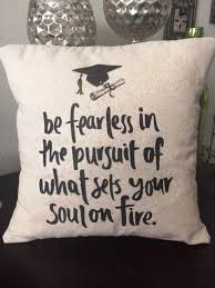x toss pillow inspirational quote for graduate this