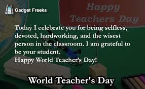 world teachers day status short line status to share on
