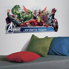 Marvel Avengers Assemble Personalized Headboard Peel Stick Wall Decals
