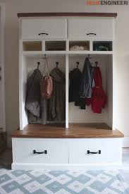 mudroom lockers with bench free diy