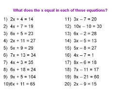 equations math worksheets two