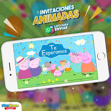 Tarjeta Video Invitacion Digital Animada Peppa Pig Bs 500 000