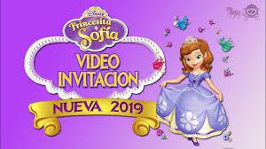 Princesa Sofia Video Invitacion De Cumpleanos 2019 Youtube