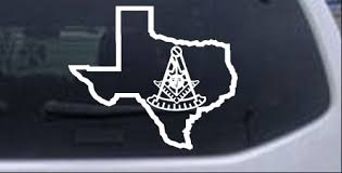 Texas Masonic Past Master Car Or Truck Window Decal Sticker Rad Dezigns