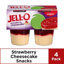 eat strawberry cheesecake pudding