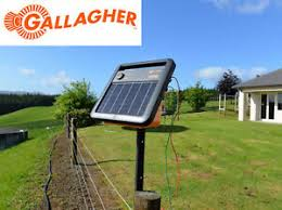 New Model Gallagher S100 Solar Powered Electric Fence Energiser 30km Single Wire Ebay