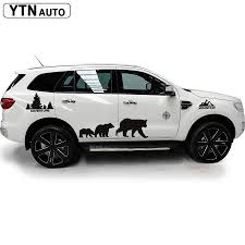 Custom Car Decals 8 Pcs Mountain Forest Decal Bear Graphic Vinyl Decoration Stickers Fit For Suv Pickup Car Stickers Aliexpress