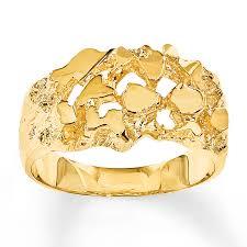 men s 14k gold nugget rings ensas