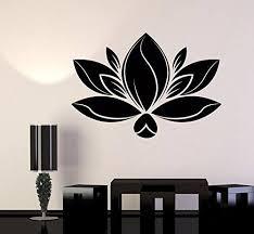 Vinyl Wall Decal Lotus Flower Meditation Yoga Spa Center Stickers 1092 Poshvinyls