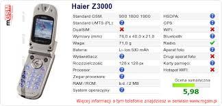 Haier Z3000 :: mGSM ...
