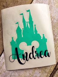 This Listing Is For One Decal Add Your Name Or Monogram To Personalize Your Disney Decal Our Vinyl Decal Disney Decals Monogram Vinyl Decal Phone Case Decals