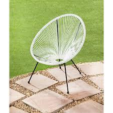 hawaii string garden chair white