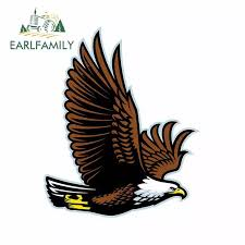 Earlfamily 13cm X 10 6cm For Bald Eagle Flying Mascot Car Stickers And Decals Vinyl Anime Waterproof Car Accessories Car Stickers Aliexpress