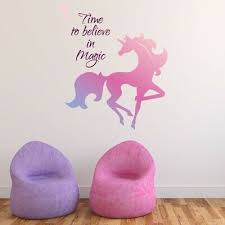 Details About Time To Believe In Magic Unicorn Wall Sticker Ws 50555 Unicorn Wall Decal Wall Decal Sticker Wall Stickers
