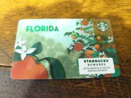 starbucks florida oranges gift card