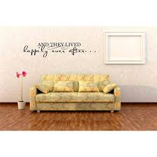 Do It Yourself Wall Decal Sticker And They Lived Happily Ever After Life Family Quote Design With 7x25 Walmart Com Walmart Com