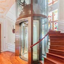 villa used glass round home elevator