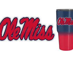 Ole Miss Car Decal Etsy