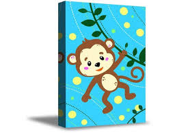 Awkward Styles Monkey Prints Funny Art For Kids Animal Art Funny Monkey Framed Canvas Art Cute Animal Illustration Kids Room Wall Art Newborn Baby Room Wall Decor Animal Wallpapers Made In Usa