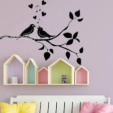 Love Birds Wall Decal Birds On The Tree Branch Wall Stickers Removable Vinyl Nursery Living Room Bedroom Art Design Mural Ea445 Wall Stickers Aliexpress