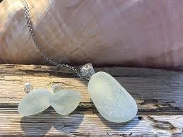 sea glass earrings sea glass pendant
