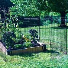 Vigoro 44 In H X 36 In W Steel Multi Purpose No Dig Black Fence Panel 860268 The Home Depot