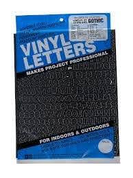 Duro Gothic Vinyl Letters Sets Misterart Com