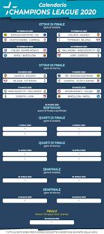 Calendario Champions League e Dove Vederla