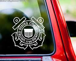 Amazon Com Minglewood Trading Us Coast Guard Vinyl Decal Sticker 5 25 X 5 United States Military Uscg Cobalt Automotive