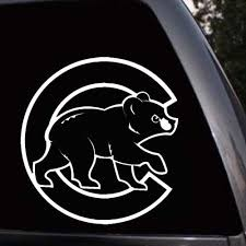Mlb Fan Apparel Souvenirs Chicago Cubs Bear Logo Baseball Car Truck Window Laptop Wall Vinyl Decal Sticker Sports Memorabilia Fan Shop Sports Cards Cub Co Jp