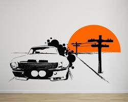 Ford Mustang Vintage Wall Decal For Housewares Sold By Moonwallstickers Com On Storenvy