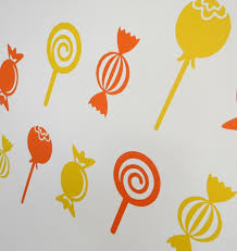 Sweets And Lollipops Wall Art Decals Stickers Various Etsy