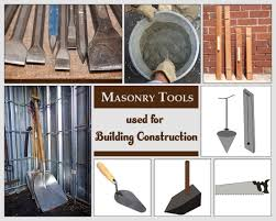 42 masonry tools used in masonry work