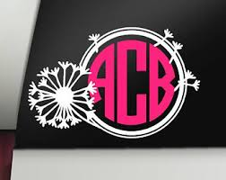 Arrow Monogram Decal Monogram Decal Arrow Decal Car Decal Etsy