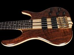 2017 Ken Smith 5TN Black Tiger Figured Walnut 5-String Bass w ...