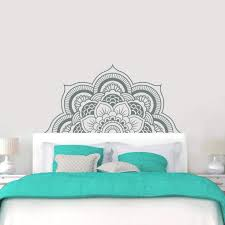 Faux Headboard Wall Decal Elegant Sticker Uk Removable Design Interior Full Size White Bed Vamosrayos