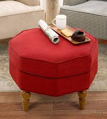 newbury stool in red colour by clg