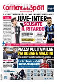 Prima pagina di Gazzetta dello sport, Tuttosport e Corriere dello ...