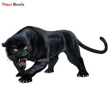 Three Ratels Trl570 15x8cm Animal Sticker Black Panther Roaring Colorful Funny Car Stickers And Decals Auto Styling Removable Car Stickers Aliexpress