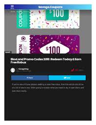 free robux bloxland promocodes 2020