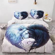 3d animal yin yang design bedding set