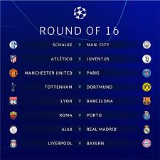 UEFA Champions League 2018-19 Knockout Round Schedule
