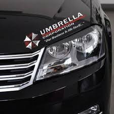 2pcs Umbrella Corporation Sticker Decal Aufkleber 35x10cm Eybrow Racoon Resident Evil Jdm Car Pick Up Ford Erics Electronics