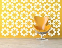 Amazon Com Flower Wall Decals Daisy Wall Decal Floral Wall Decals Retro Wall Decal Modern Wall Decor Modern Nursery Decor Mid Century Modern Handmade