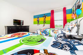 bedroom with themed kids room near wdw