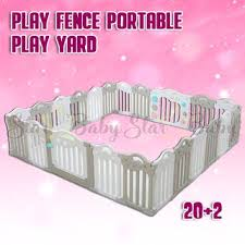 Sb Baby Playpen Children S Play Fence Portable Play Yard For Kids Infant Plastic Room Divider Shopee Philippines